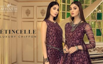Afrozeh Etincelle Luxury Chiffon Collection Price Detail Buy Online
