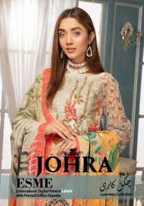 Johra Chikankaari Embroidered Lawn Spring Summer Luxurious Collection
