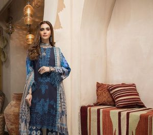 Naranji – Unstitched Embroidered Khaddar with Embroidered Shawl Vol-1