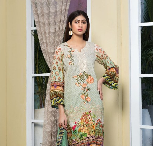 Nooray Embroidered Lawn With Chiffon Dupatta Vol 1 Rashid Textile