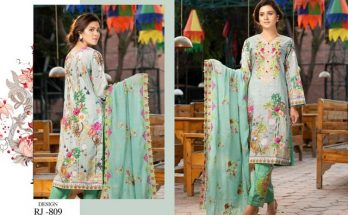 Rangzeb Digital Print Embroidered Collection by Rujhan Fabrc
