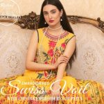 Rujhan Fabrics Swiss Gold Voil Collection