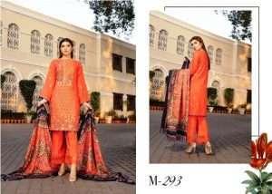 Shaista Semi Peach Embroidered Muntaha Wool Shawl Winter Collection