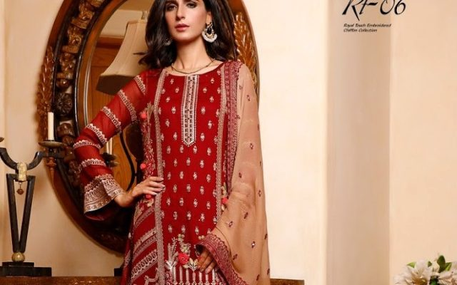 Wijdan Royal Touch Embroidered Chiffon Collection Winter Salams Textile Price Buy Online